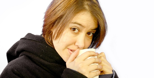 Woman with mug